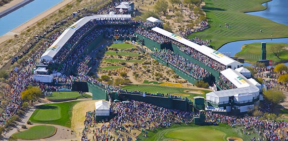 The Iconic 16th hole at TPC Scottsdale