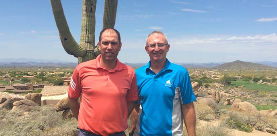 Stuart and Mark at Troon North