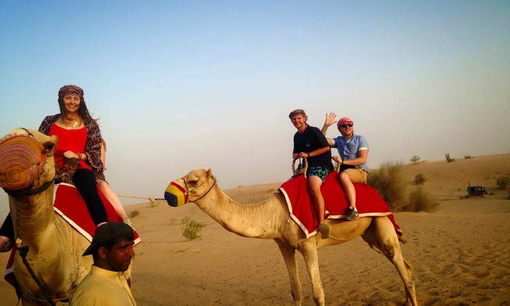 Camel rides are available on the sunset desert safari tour in dubai