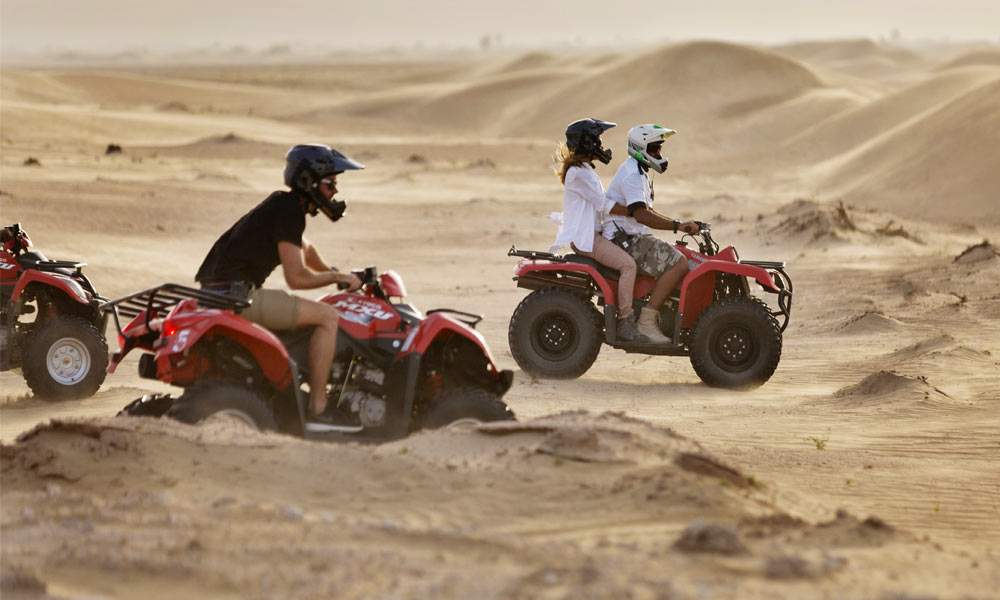 At the desert safari camp you can rent a quad bike and roam around