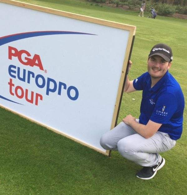 Matt Mumford is sponsored by Chaka Travel on the EuroPro Tour