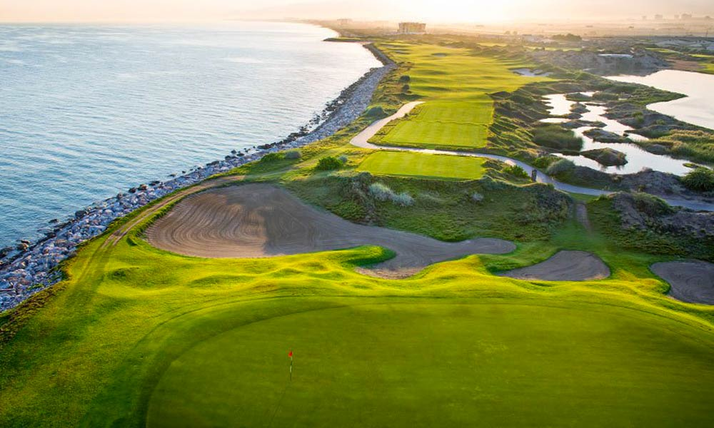 Al Mouj Golf Club, Oman lies on the omani coastline