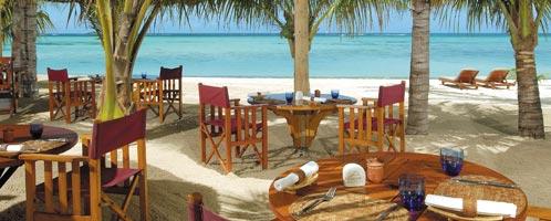 Dining at Dinarobin, Mauritius