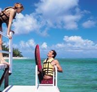 watersports at Dinarobin, Mauritius