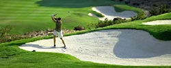 golfing at the Golf Du Chateau in Mauritius