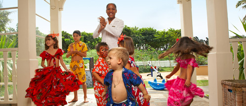 Childrens dance activities at Heritage Le Telfair Golf and Spa Resort, Mauritius