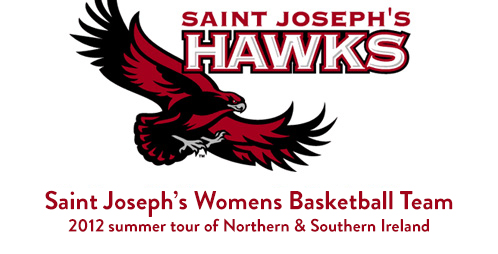St Joesph's Womens basketball team tour of Ireland and Northern Ireland 2012