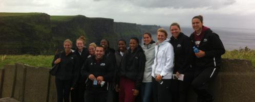 St Joseph's women basket ball team at The Cliff's Moher