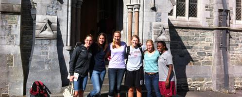 St Joseph's women basket ball team visit Kylemore Abbey