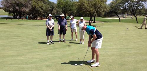 Zebula golf lesson