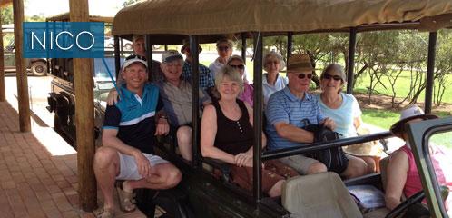 Zebula safari tour ready to set off
