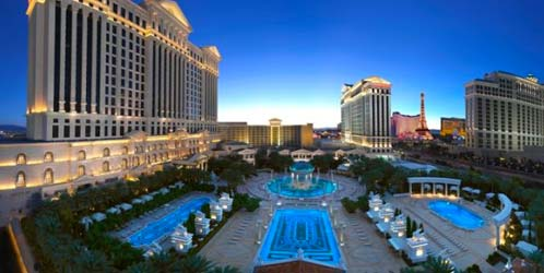 Caesers Palace Hotel Pool View Aerial