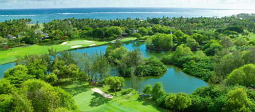 Belle Mare Plage Legend Course from above