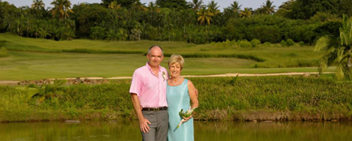 The boyes couple in Mauritius