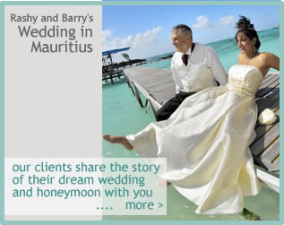 just married in Mauritius