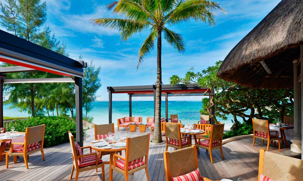 Views of the Indian Ocean from La Spiaggia Restaurant