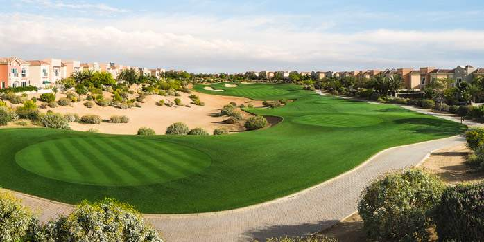 Els Club Dubai Golf Green UAE United Arab Emirates