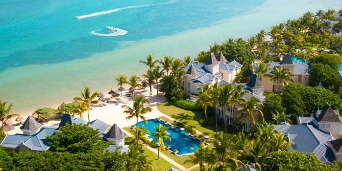Heritage Le Telfair Golf & Spa Resort Mauritius Aerial Ocean View