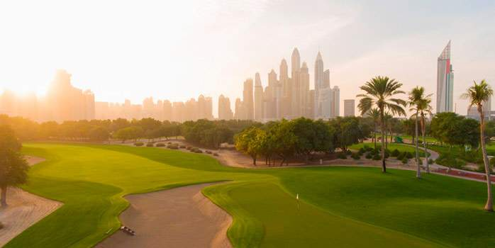 Majlis Golf Course Dubai United Arab Emirates Uae Middle East Luxury Golf Travel Sports Tourism Chaka Travel Specialists Skyline City Golf