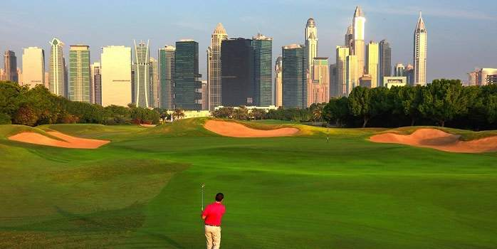 The Address Montgomerie Golf Course Dubai Skyline City Golf Luxury Golf Holidays Travel Specialists Links Restaurant