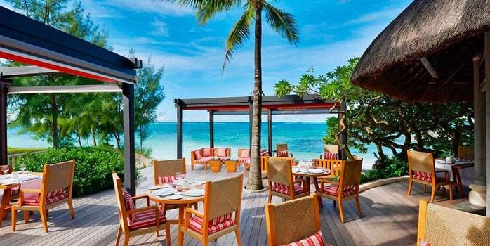 La Spiaggia Restaurant at Constance Belle Mare Plage Mauritus