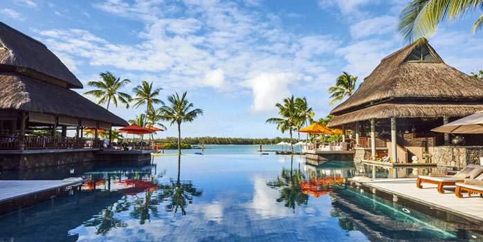 Constance Prince Maurice Mauritius Golf Holiday Pool View