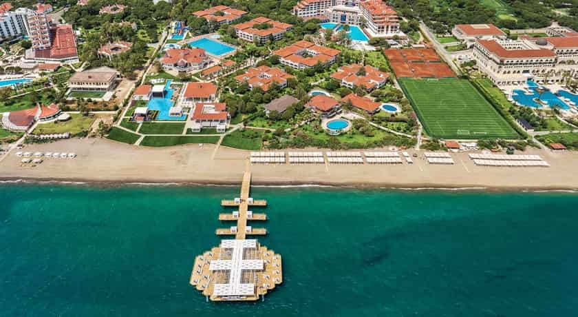 Sirene Golf Hotel Belek Resort Beach and Sea Aerial View Turkey Hotel Golf