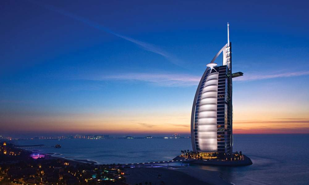 dubai unitad arab emirates luxury golf holiday chaka travel burj al arab hotel
