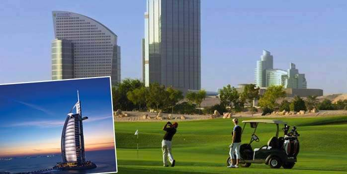 Burj Al Arab Golf Holiday Dubai with Business Class Flights