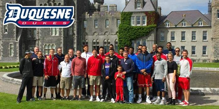 Duquesne University Men's Basketball Team tour of Ireland