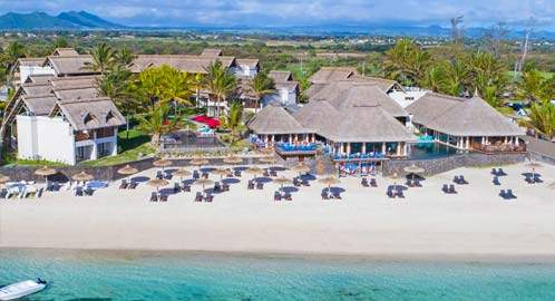 Aerial shot of the resort