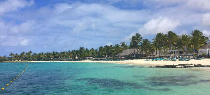 The beach at Constance Belle Mare Plage, Mauritius
