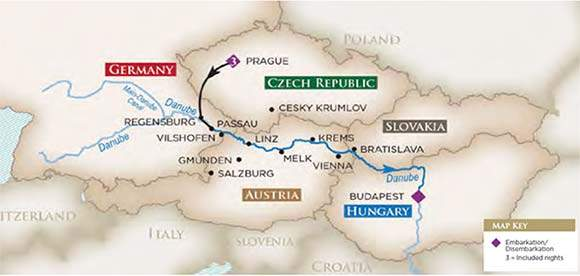 The Romantic Danube Golf River Tour