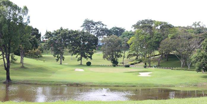 A golf course in Ayer Keroh Country Club