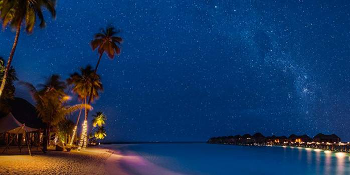 Constance Halaveli Maldives Honeymoon by night