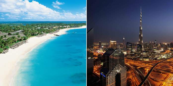 Dubai & Mauritius Twin Centre Golf Holiday Belle Mare Plage JA Ocean View
