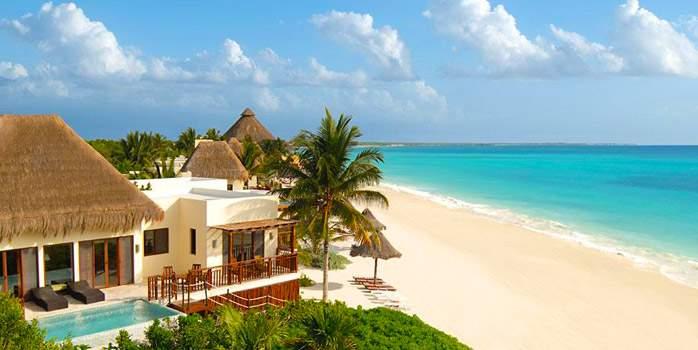 Beach View Fairmont Mayakoba Riviera Maya Mexico Golf Holiday