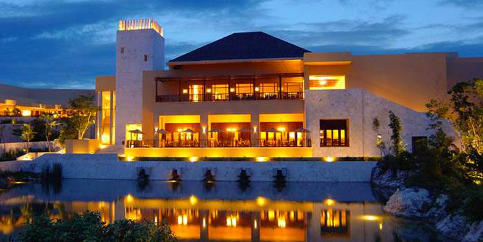 Night Fairmont Mayakoba Riviera Maya Mexico Golf Holiday