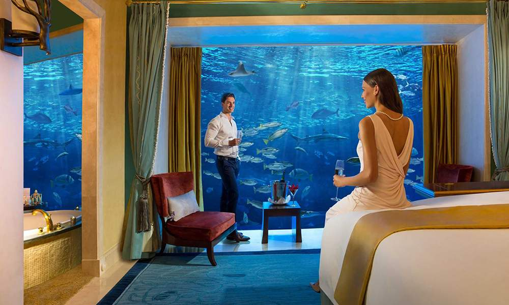 the hotel rooms at Atlantis, the palm, dubai