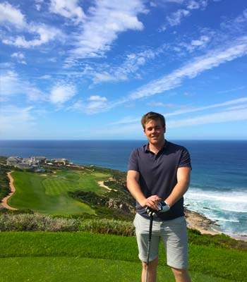 Kallam golfing at Pinnacle Point South Africa