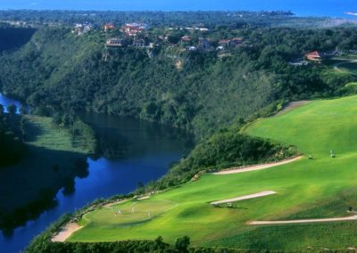 Dye-Fore-Golf-Course-Dominican-Republic-High-View-Golfer-River