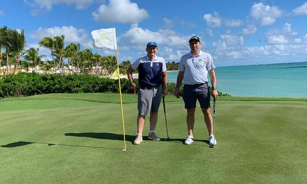 Chaka Travels Mark & Stuart playing at La Cana Golf Club - Winter 2019