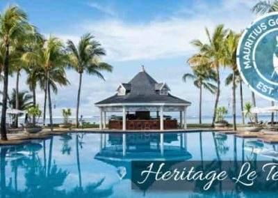 Heritage Le Telfair Resort pool in Mauritius all inclusive