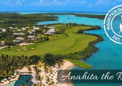 Aerial view of Anahita Golf & Spa Resort for Mauritius All Inclusive Golf