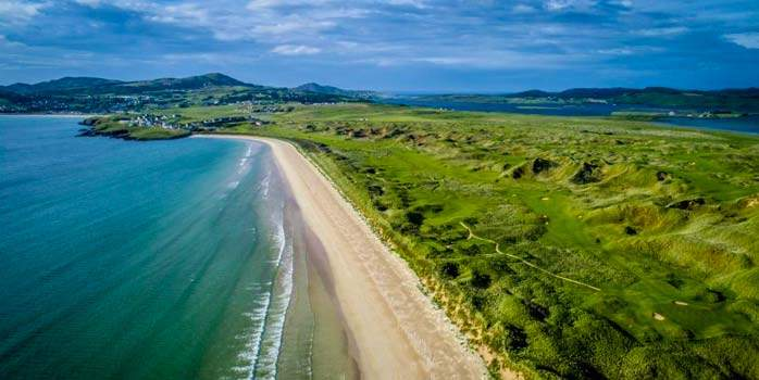 Rosapenna Old Tom Morris Links golf course by the beach Donegal Ireland