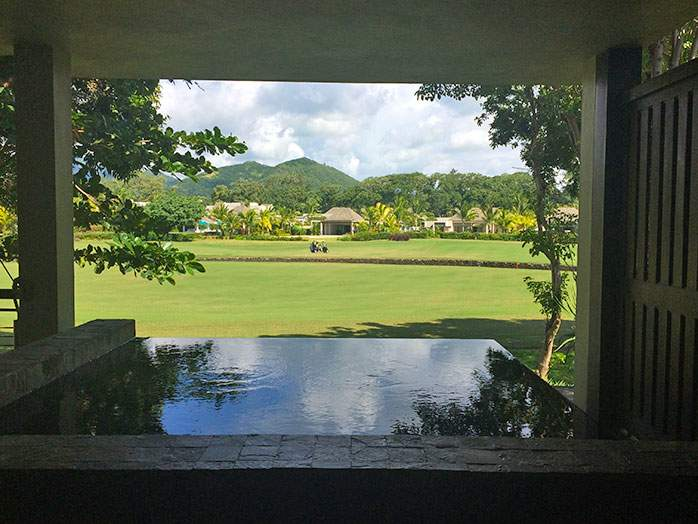 Anahita Resort Mauritius Plunge Pool Overlooking Golf Course