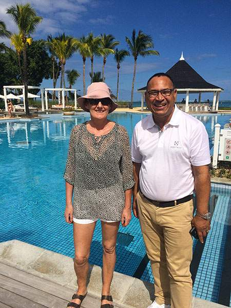 Marcella and Michael Geerdharry Le Telfair Golf Resort Mauritius