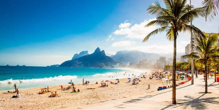 Copacabana Beach Rio De Janeiro Brazil Golf Holiday