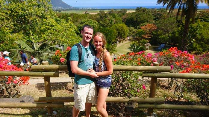 Tim & Nicki at Casela Safari Park, Mauritius