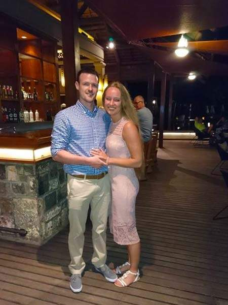 Tim & Nicki enjoying the nightlife at the Heritage Awali, Mauritius